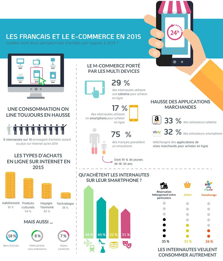 Infographie : les Français et le e-commerce en 2015