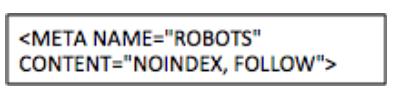 Balise meta robots pour éviter le duplicate content