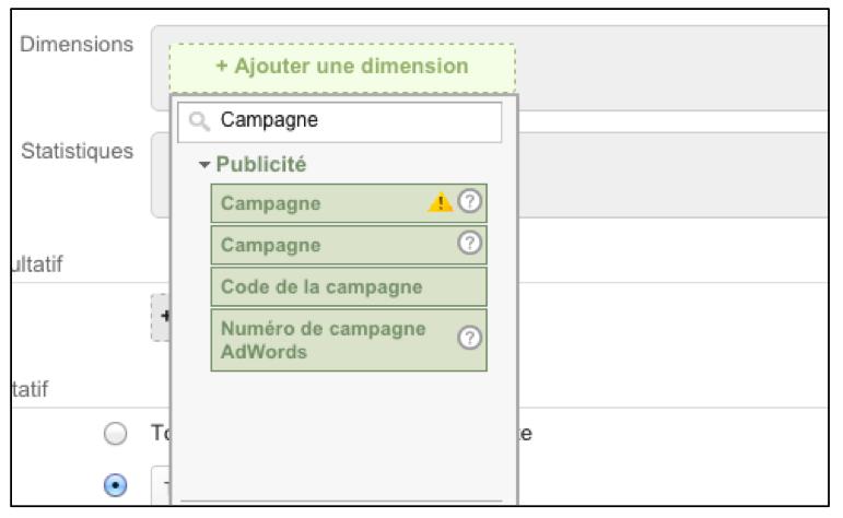 Ajouter une nouvelle dimension aux campagnes dans Google Analytics