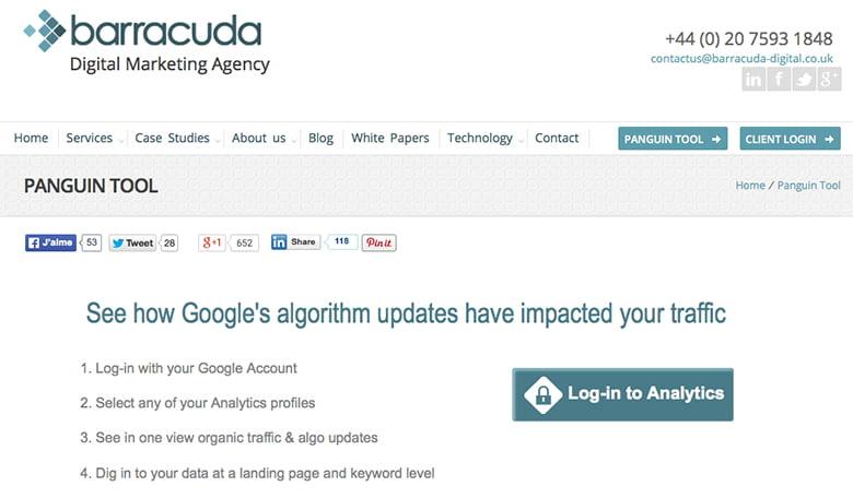Détecter les pénalités Google avec Panguin Tool