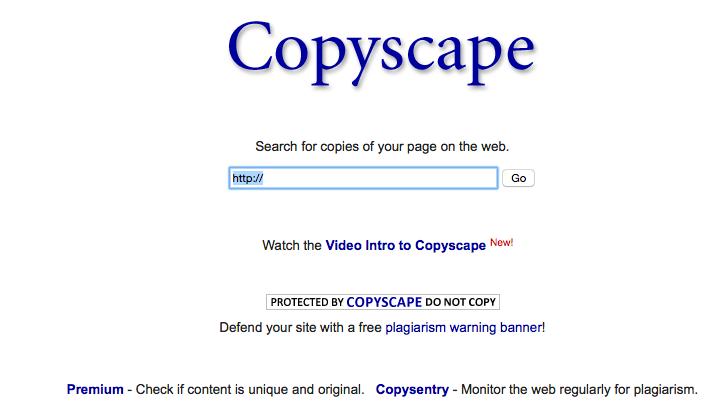 Détecter le plagiat et contenu dupliqué avec Copyscape