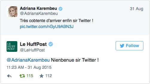 Les médias relayent le tweet raté d'Adriana Karembeu