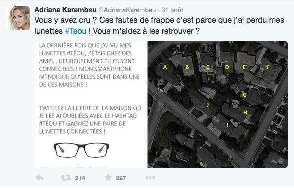"""Atol lance son jeu sur Twitter pour gagner des lunettes """"Téou"""""""