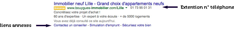 Campagne adwords immobilier