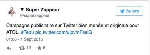 Réussite du teasing d'Atol avec Adriana Karembeu sur Twitter