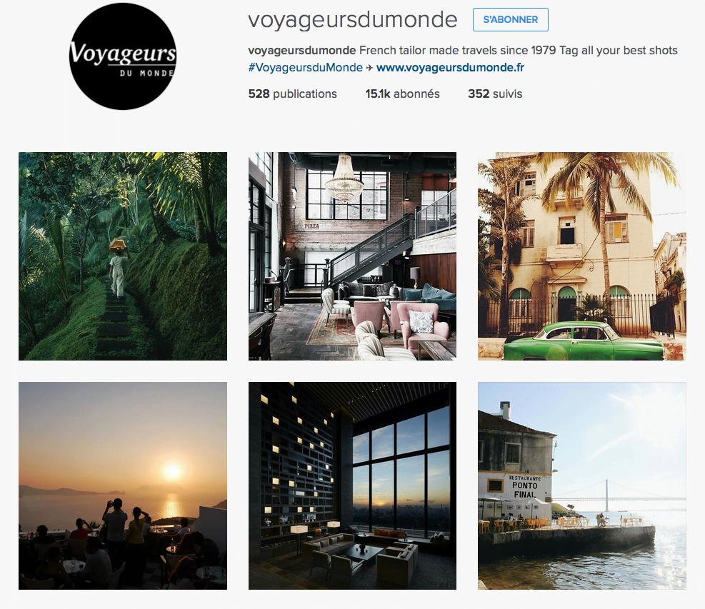 Instagram de Voyageurs du Monde