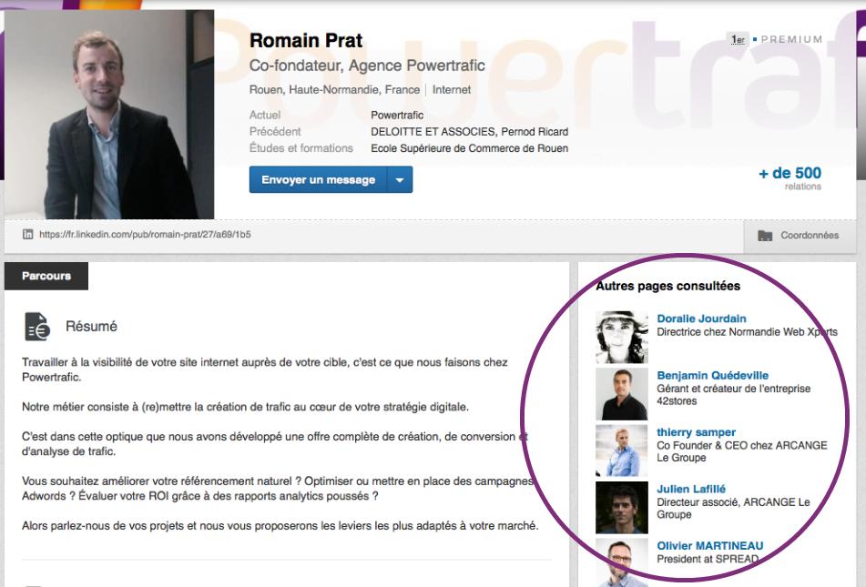 Sidebar LinkedIn