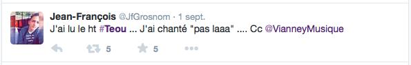 Réactions des twittos au nom des lunettes Téou d'Atol