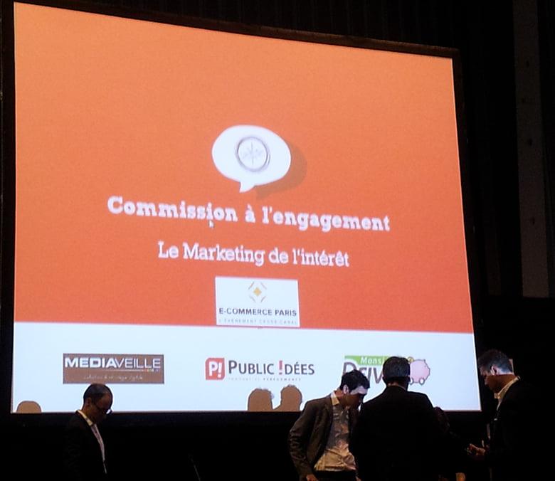 Conférence sur le marketing de l'intérêt - Salon E-commerce Paris 2015