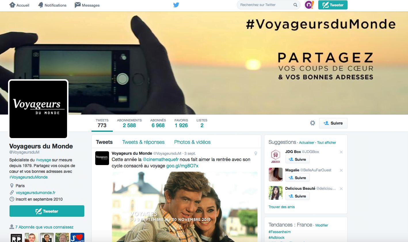 Twitter de Voyageurs du Monde