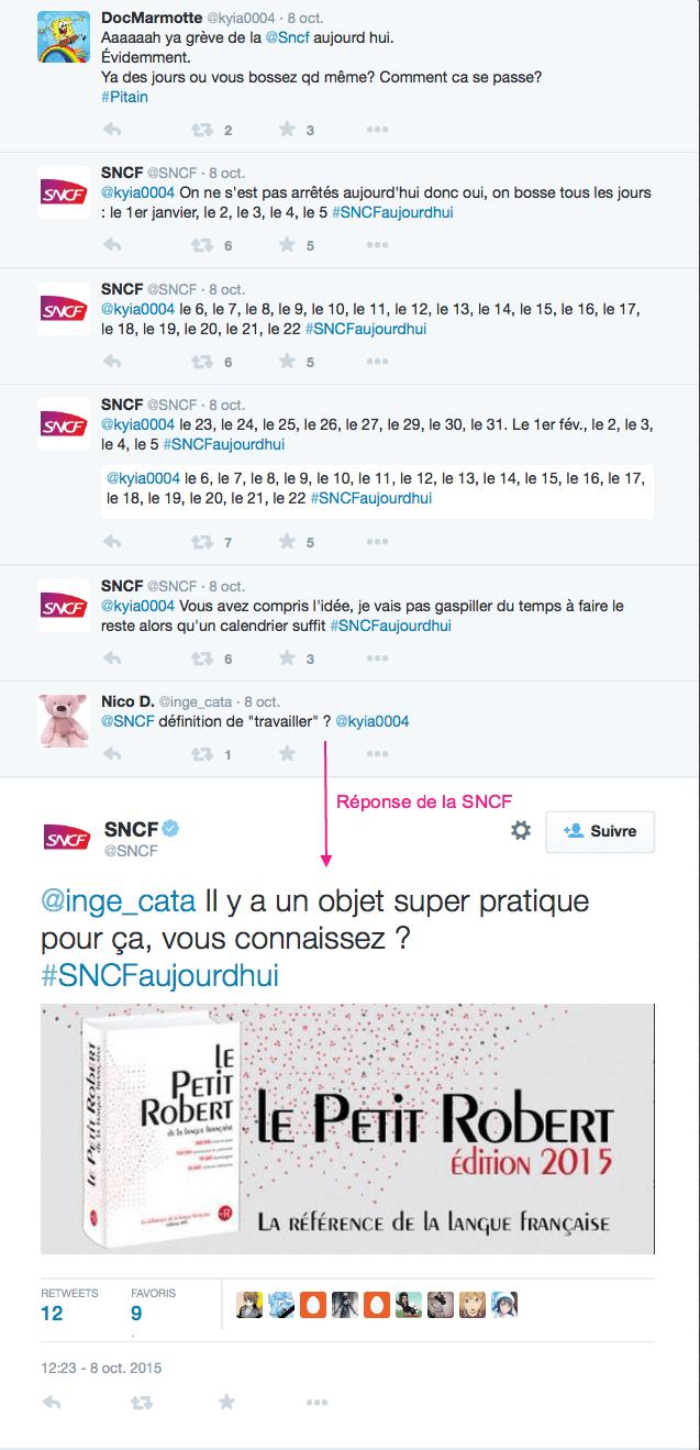 Community management avec humour et dérision pour la SNCF