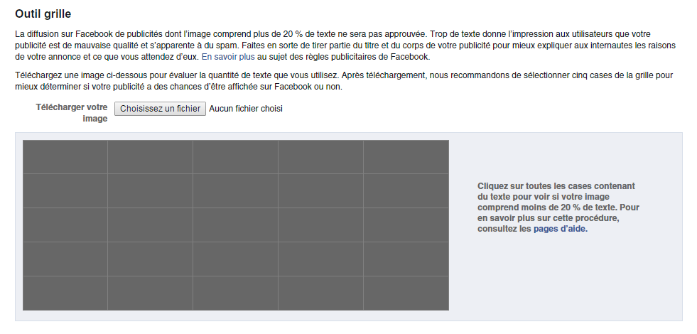 Grille image pour annonce Facebook Ads.