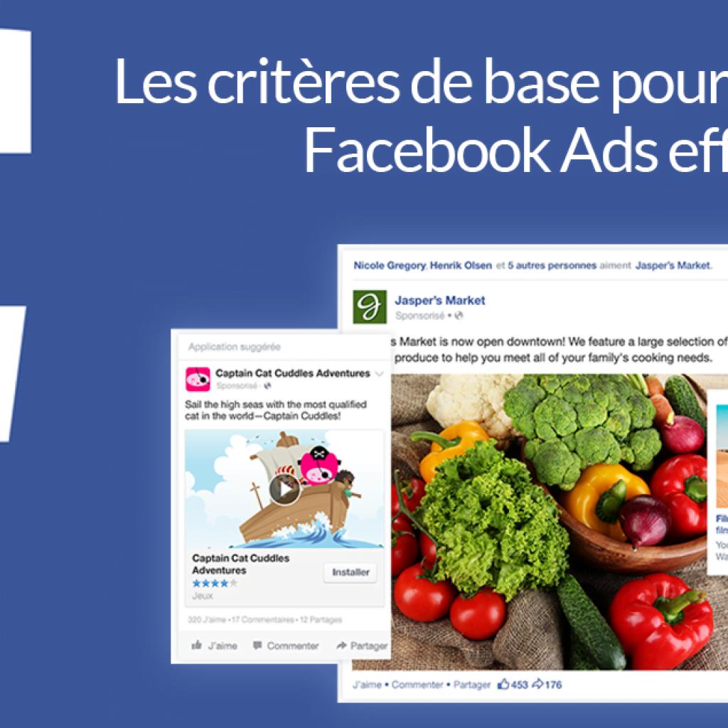 Notre guide de base pour Facebook Ads.