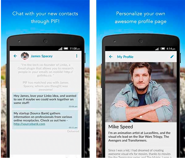 PIF : l'application qui favorise les contacts professionnels