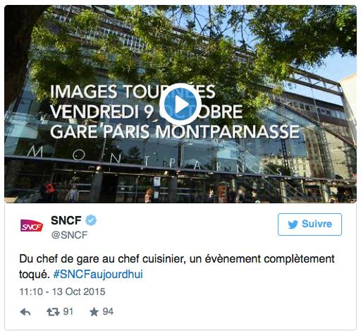 Opération de la SNCF sur Twitter