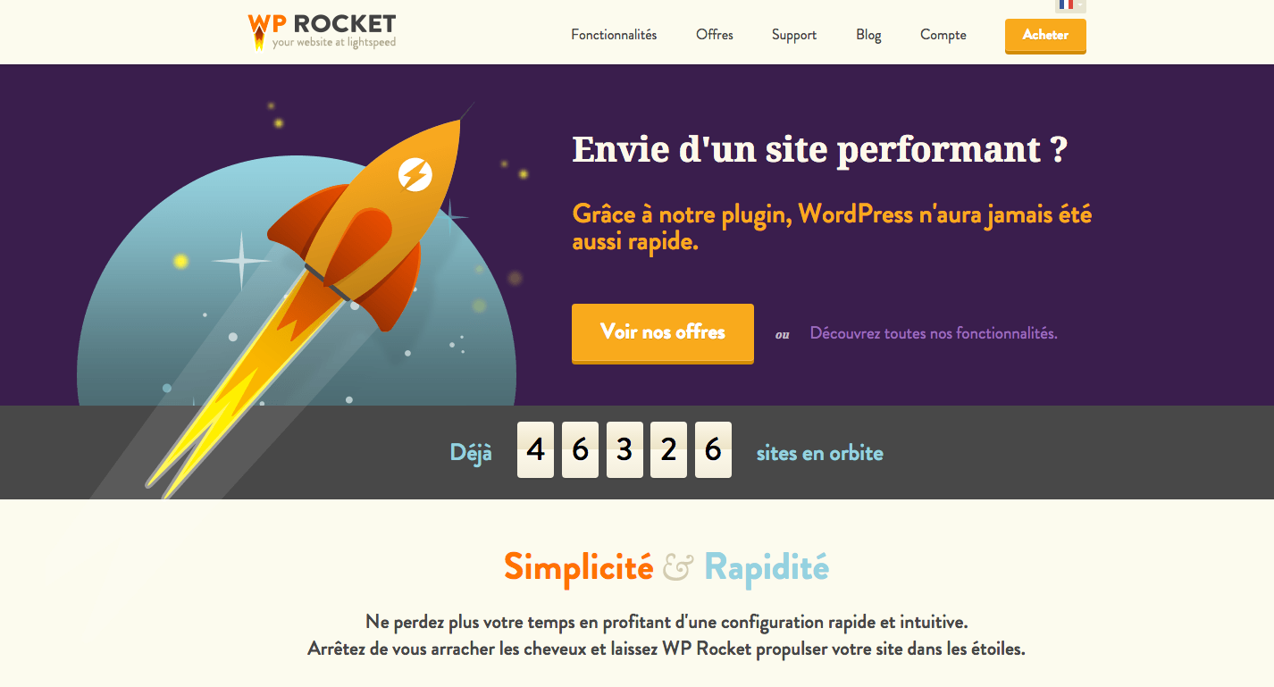 Module WordPress WP Rocket