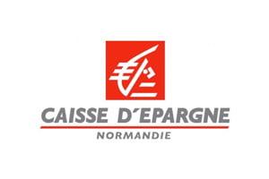 Logo Caisse d'Epargne Normandie : banque régionale, coopérative et solidaire