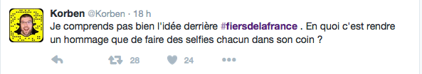 Polémique sur le hashtag FiersdelaFrance