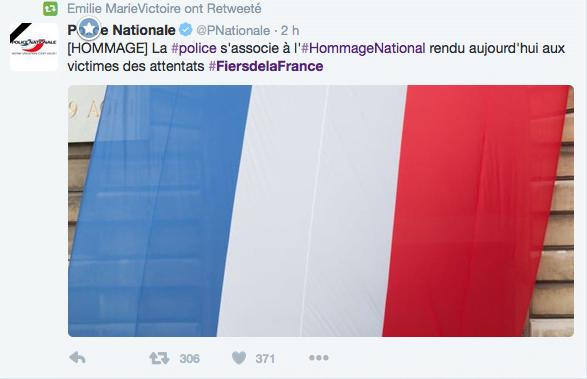 Les internautes rendent hommage aux victimes de Paris sur Twitter