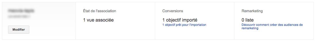 Lier le compte Google AdWords avec le compte Google Analytics