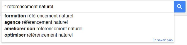 Une astuce mot-clé sur Google suggest