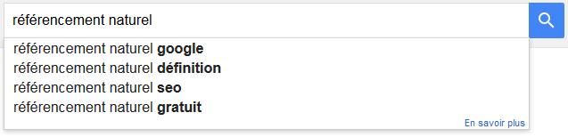 GoogleSuggest, une requête classique