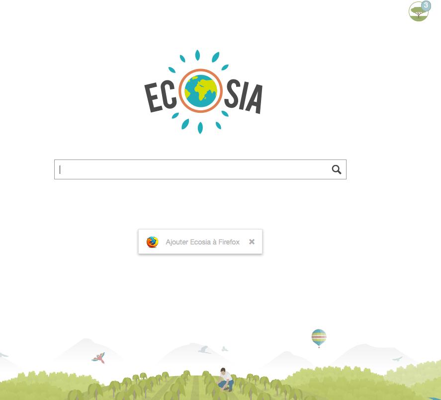 Moteur de recherche écolo : Ecosia