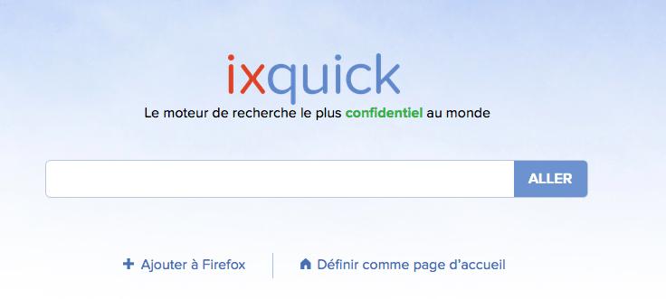 Ixquick : moteur de recherche confidentiel