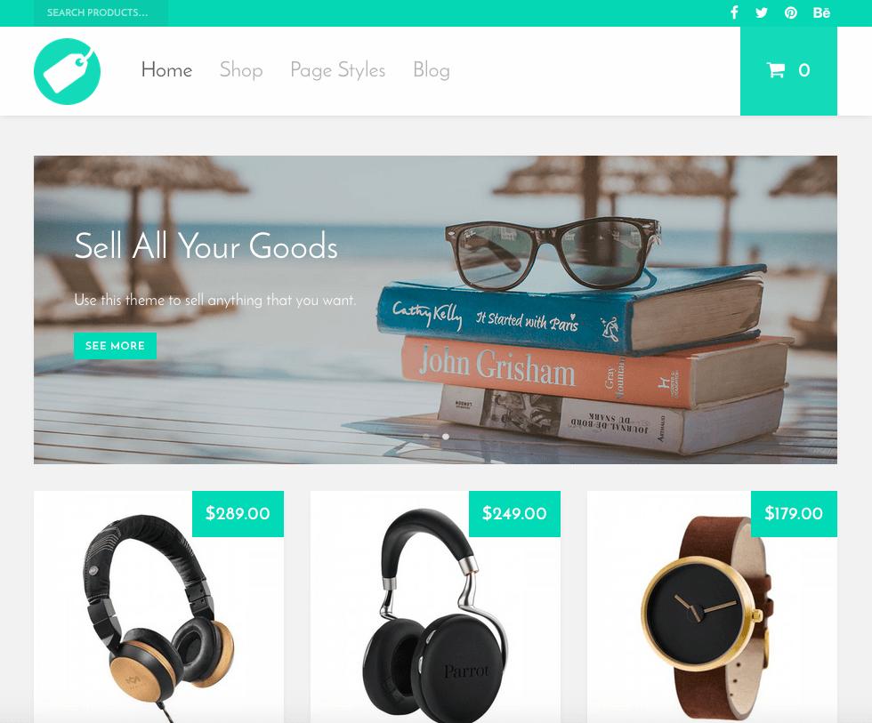 Thème e-commerce WordPress