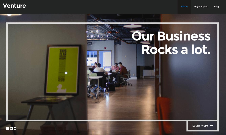 Thème Business sur WordPress