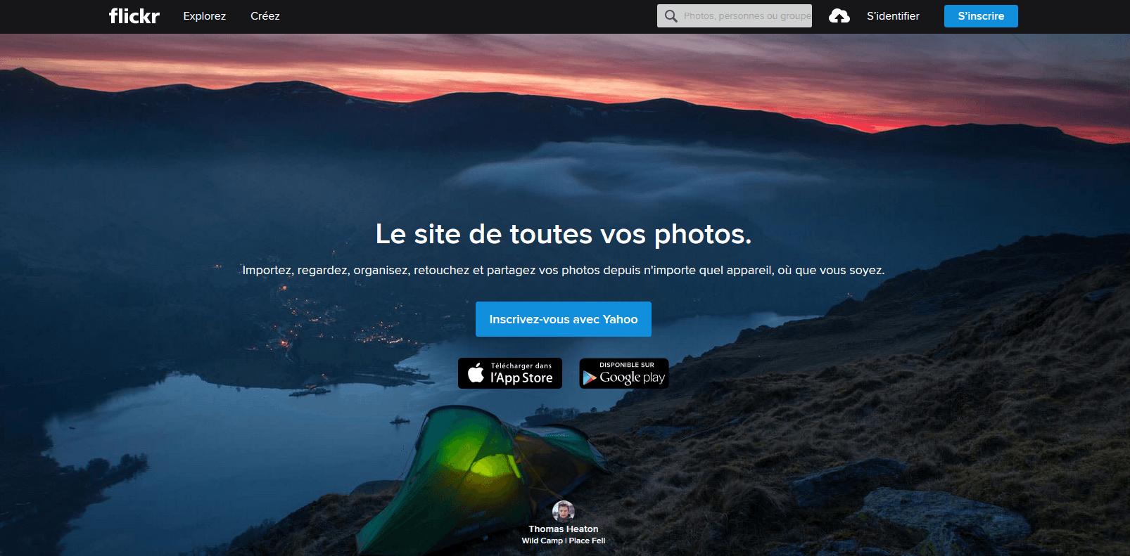 Flickr, banque d'images gratuites