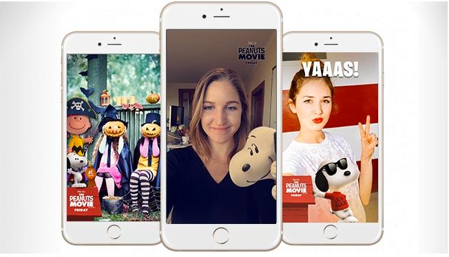 Publicité Snapchat