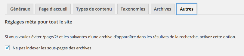 Limiter l'indexation des pages archives WordPress.