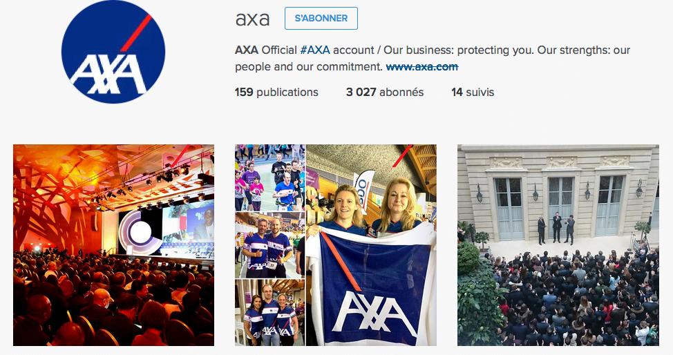 AXA et Instagram pour véhiculer son image de marque