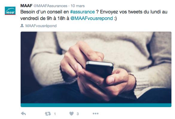 Utilisation de Twitter comme SAV par la MAAF