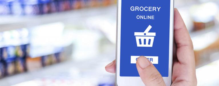 Infographie sur l'e-commerce alimentaire
