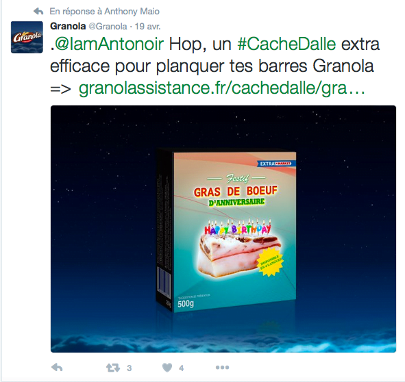 Campagne marketing digital par Granola
