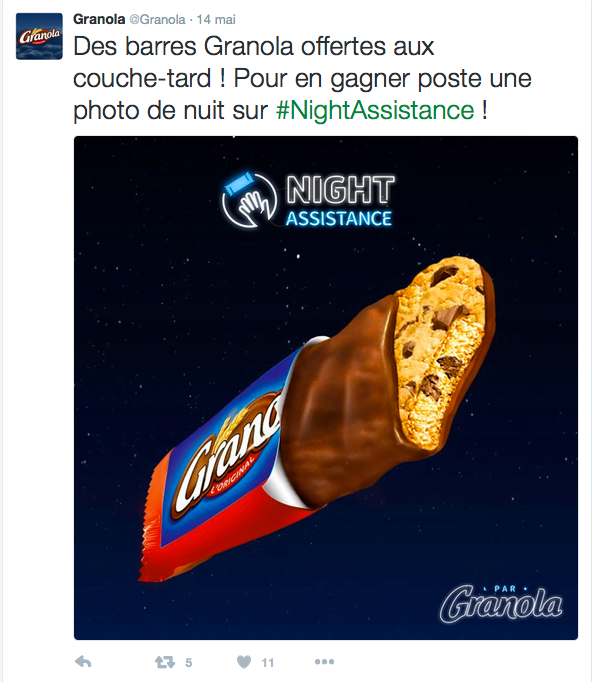 "Campagne ""NightAssistance"" par Granola"