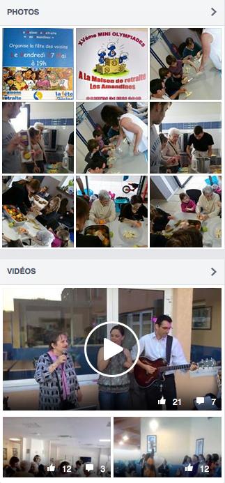 Vidéos sur les réseaux sociaux des maisons de retraite