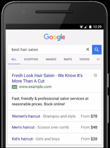 Google AdWords : extensions d'annonces textuelles