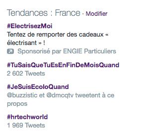 Twitter Ads : trending topics
