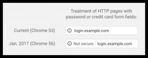 Site non sécurisé sur Google Chrome