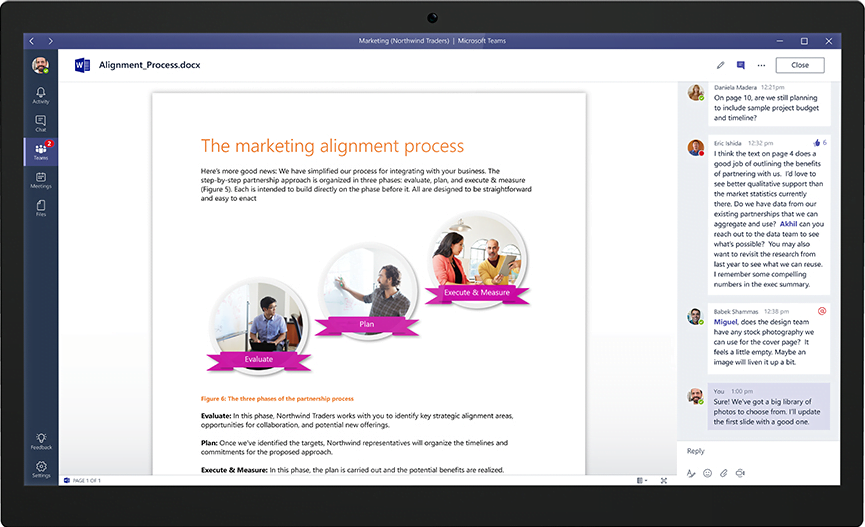 Outils-office-microsoft-teams-partager-modifier-commenter-document