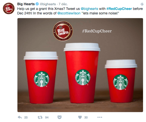 Redcups Starbucks marketing saisonnier