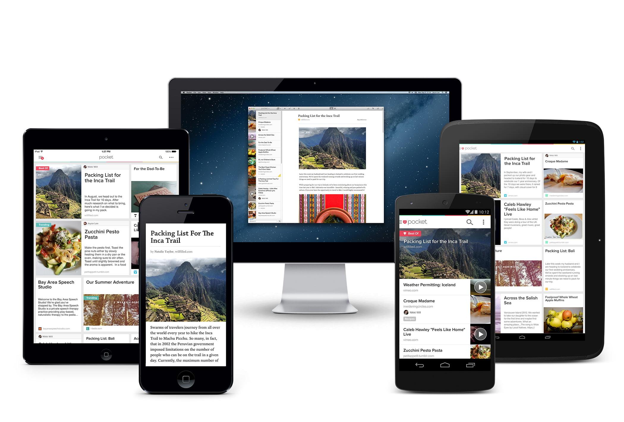 Curation de contenus : Interface Pocket pour sauvegarder des articles