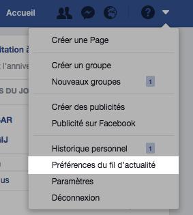 Choisir ses préférences de fil d'actualité sur Facebook