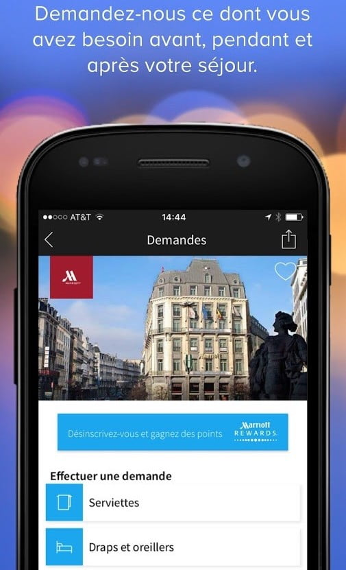 Mobile Requests Marriott Rewards