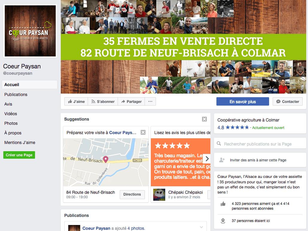 Agriculture connectée : Page Facebook de Cœur Paysan