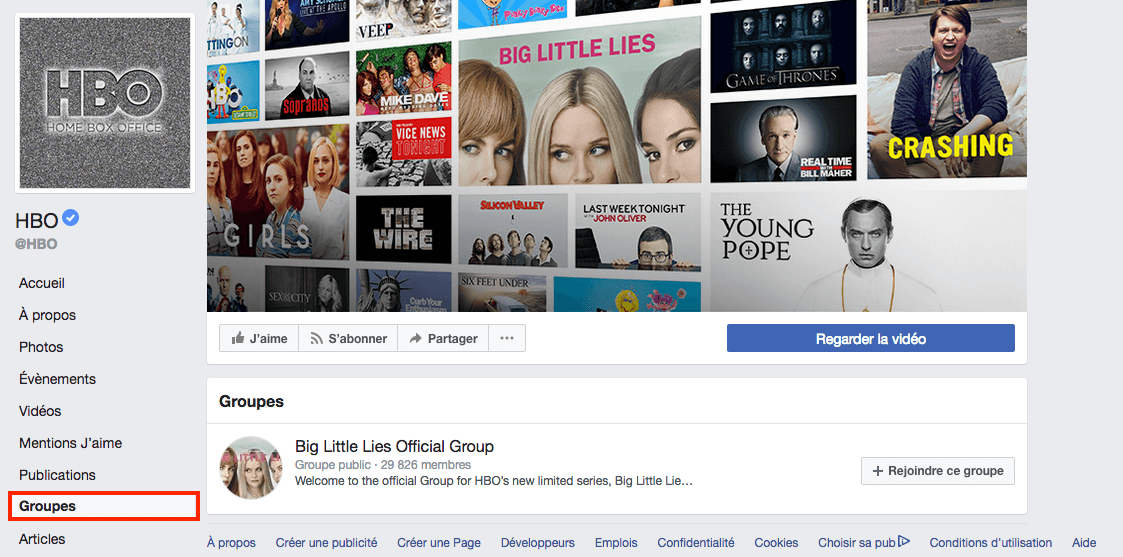 Groupes Facebook HBO