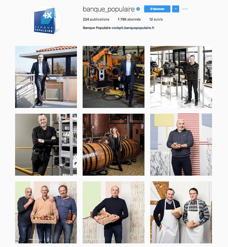 Réseaux sociaux Banque Populaire Instagram